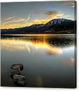 Sunset On Little Washoe Canvas Print