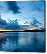 Sunset On Noosa River Canvas Print