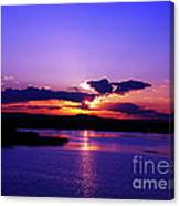 Sunset On Snake River Canvas Print