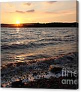 Sunset On The Bay Of Fundy Canvas Print