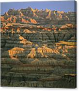 Sunset On The Geological Formations Canvas Print
