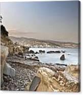 Sunset On The Mediterranean Canvas Print