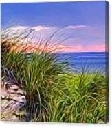 Sunset On Wellfleet Dunes Canvas Print