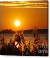 Sunset On White Lake Canvas Print