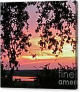 Sunset Over Canyon Lake Canvas Print