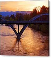 Sunset Over Caveman Bridge Canvas Print