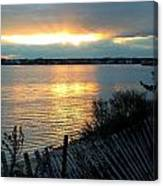 Sunset Over Cedar Creek Canvas Print