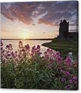Sunset Over Dunguaire Castle, Kinvara Canvas Print