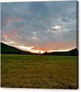 Sunset Over Field Canvas Print