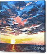 Sunset Over Green Bay Canvas Print