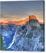 Sunset Over Half Dome Canvas Print