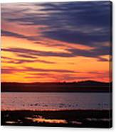 Sunset Over Marshes Parker River National Wildlife Refuge Canvas Print