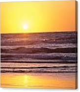 Sunset Over Ocean Canvas Print