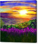 Sunset Over Rosedale Canvas Print