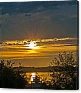 Sunset Over Steilacoom Bay Canvas Print