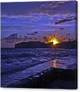 Sunset Over The Adriatic Canvas Print
