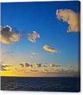 Sunset Over The Caribbean Sea Canvas Print