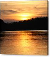 Sunset Over The Connecticut River Canvas Print