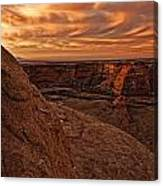 Sunset Over The Rim Of Canyon De Canvas Print