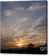 Sunset Over The San Fernando Valley Canvas Print