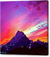 Sunset Over The Sierras Canvas Print