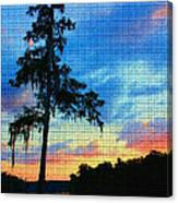 Sunset Over The Suwanee Mosaic Canvas Print