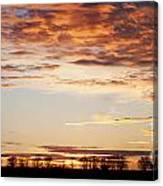 Sunset Over The Tree Line Canvas Print
