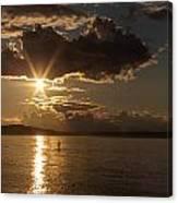Sunset Paddleboarder Canvas Print