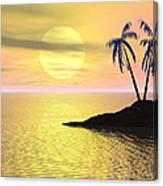 Sunset Palm Trees Canvas Print