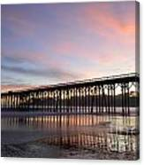 Sunset Pier San Simeon California 1 Canvas Print