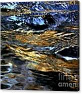 Sunset Reflected On Wave Canvas Print