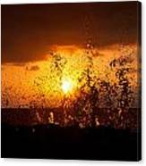 Sunset Splash 2 Canvas Print