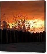 Sunset Splash 4 Canvas Print