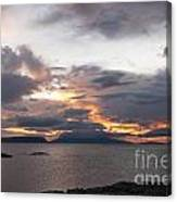Sunset Storm Clouds Inner Hebrides Canvas Print