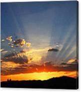 Sunset Sun Rays Canvas Print