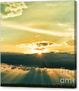 Sunset Sunbeams Canvas Print