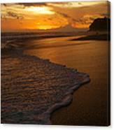 Sunset Surf Playa Hermosa Costa Rica Canvas Print