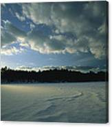 Sunset Viewed From The Frozen Surface Canvas Print