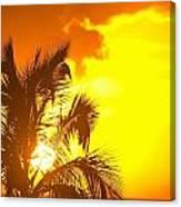Sunset, Wailea, Maui, Hawaii, Usa Canvas Print