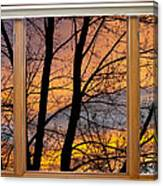 Sunset Window View Canvas Print