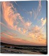 Sunset Wispy Sky Canvas Print