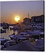 Sunsetting Over Rovinj 1 Canvas Print