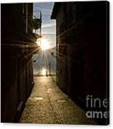 Sunshine In An Alley Canvas Print