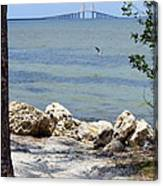 Sunshine Skyway From The Causeway Canvas Print