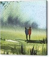 Sunshine Stroll Canvas Print