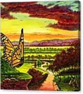 Sunshine Traveler-monarch Canvas Print