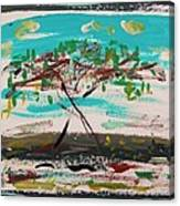 Super Summer Day-homage To Howard Hodgkin Canvas Print