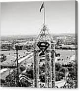 Superman And Dallas II Canvas Print
