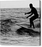 Surfer Going With The Flow Canvas Print