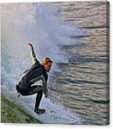 Surfin' The Wave Canvas Print